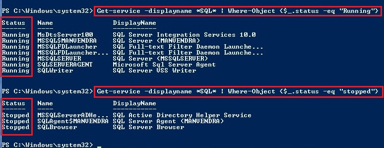 AllSQL Services which is in running state.