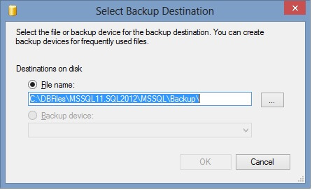 "Next click on ""Add..."" and browse out to a path you know has room for your backup"