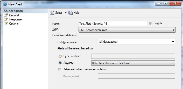Configuring a Basic Alert
