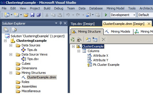 the Visual Studio Solution Explorer window