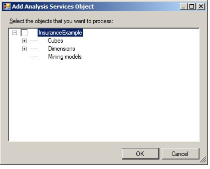 "Click on the ""Add..."" button to display the ""Add Analysis Services Object window."