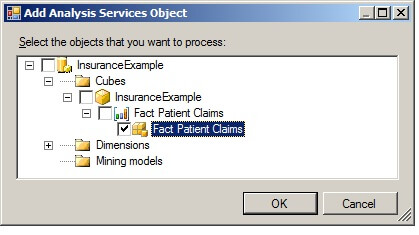 Selecting a checkbox at the partition level will process the specified partitions.