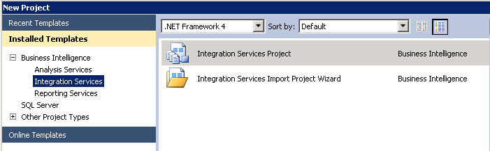 SSIS project
