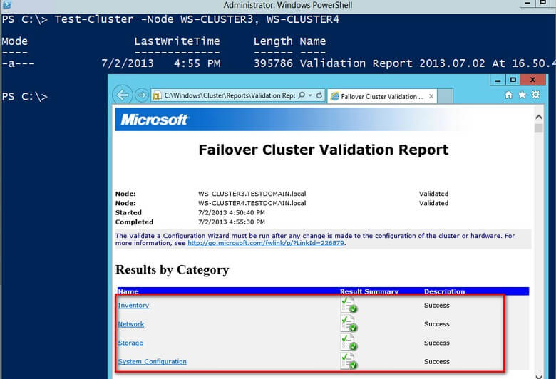 install SQL Server failover clustered instances on this cluster