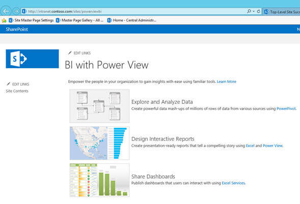 Getting started with Power View Reports