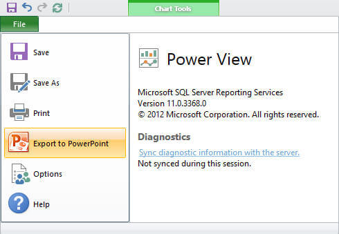 You can also export these interactive reports to PowerPoint