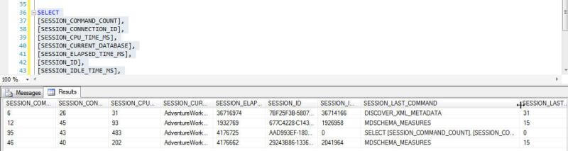 session query details