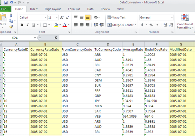 Point the Excel destination task to this spreadsheet and execute the task to move the converted data into Excel