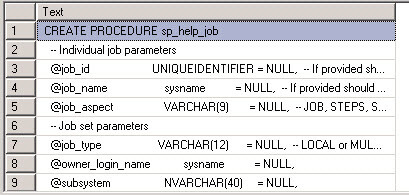 stored procedure code