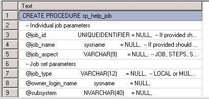 stored procedure code
