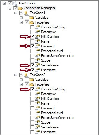 Connection Managers Captured in Configuration File
