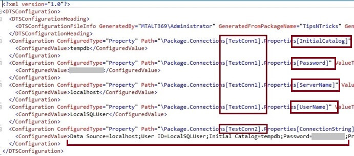 SSIS Package Configuration File