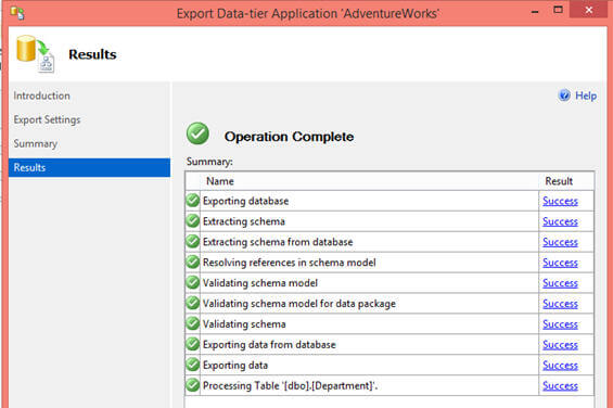 Click on Finish button to start the export operation