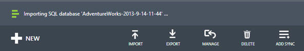 When you start the import operation, you can monitor the progress