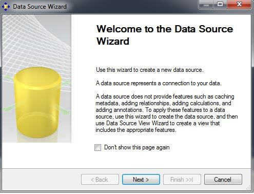 "right-click on the Data Sources folder and choose ""New Data Source"