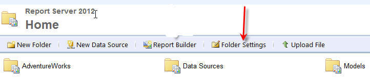 SQL Server Reporting Services Report Builder 2012 Security