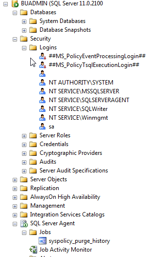 If you expand Databases, Security/Logins, SQL Server Agent/Jobs, etc. you will see it looks like a fresh copy of SQL Server