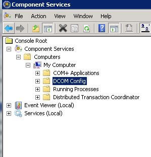 Windows Component Services: DCOM Config