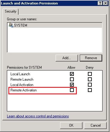 Launch and Activation Permission for the MsDtsServer DCOM Component