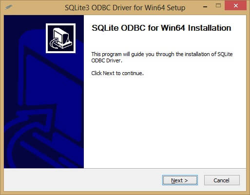 Download an ODBC driver for SQLite