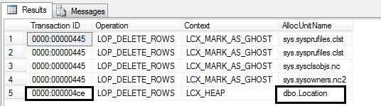 Find all the deleted rows info from t-log file