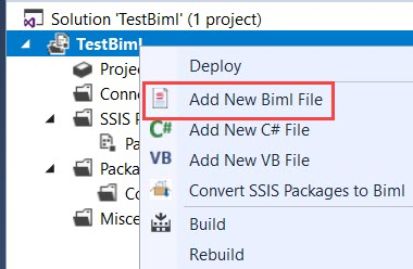 Add new BIML file