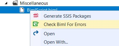 Check your BIML file for errors