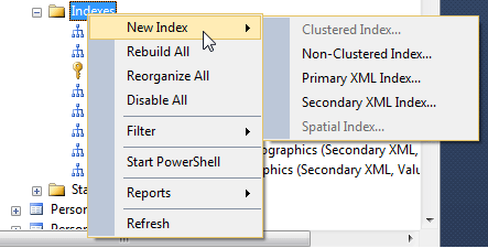 I'm creating an index in SQL Server using SSMS and I'm a little overwhelmed with all the index properties