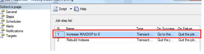 increase the MAXDOP value instance-wide to 8