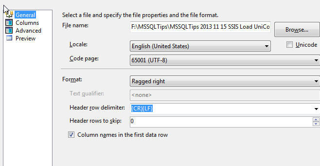 Import UTF-8 Unicode Special Characters with SQL Server
