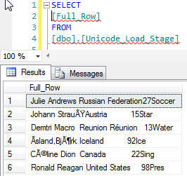 Single Row query results