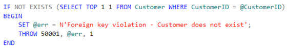 to overcome foreign key limitation you can use below validation script