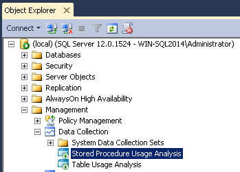 SQL Server Management Studio Data Collection for Stored Procedure Usage Analysis