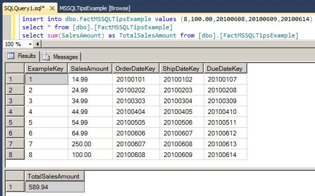 add another row to the Analysis Services cube's source table