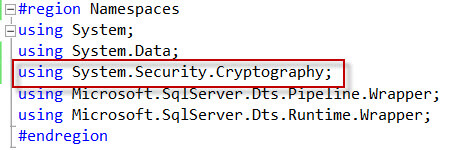 Add Cryptography Namespace