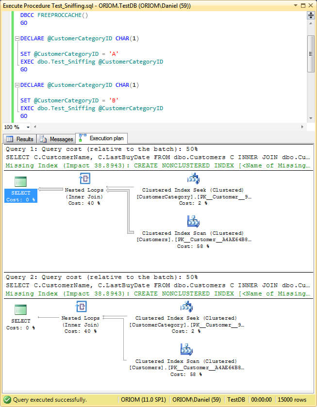 Different Approaches to Correct SQL Server Parameter Sniffing