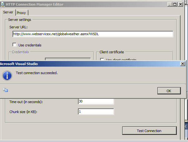 Example using Web Services with SQL Server Integration Services