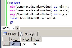 We can run a query to get the minimum, maximum and average values