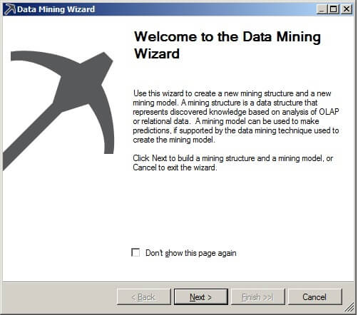 Launch the Data Mining Wizard.
