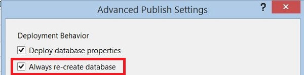 Advanced Publish Settings