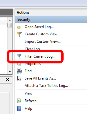 There's a lot of events, so you're going to want to filter the log