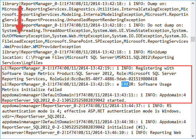 SQL Server Reporting Services (SSRS) Log Files for Troubleshooting