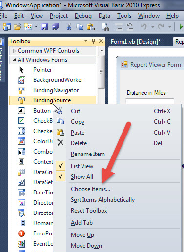 SQL Server Reporting Services ReportViewer Control for Windows