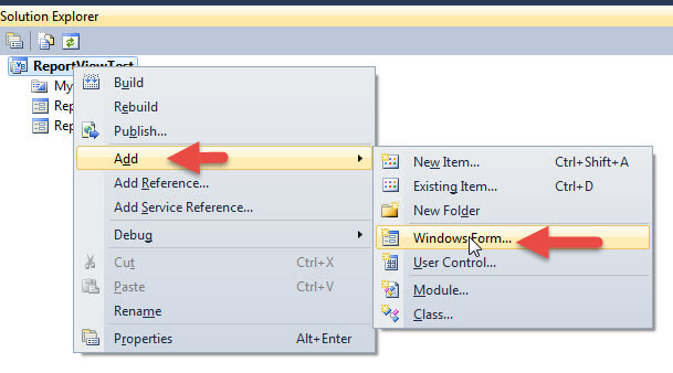 SQL Server Reporting Services ReportViewer Control for