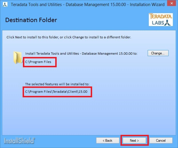 Installation of Teradata Client Side Tools