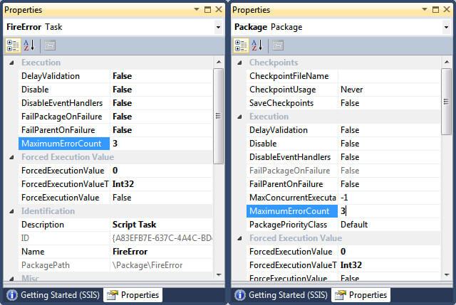 Setting Up Package and Task Error Configuration.