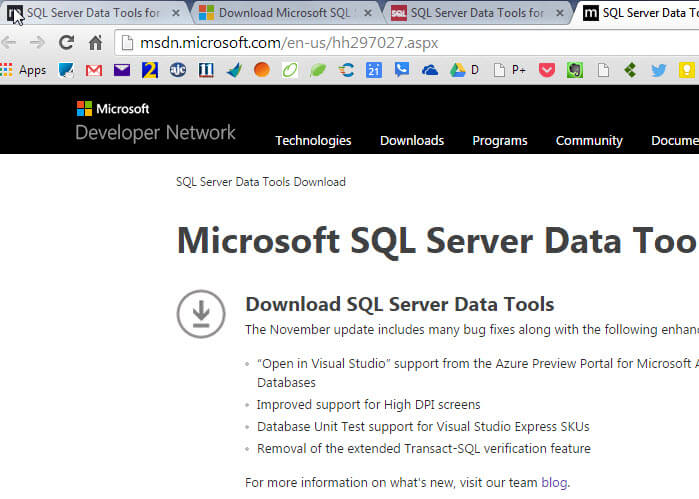 SQL Server Data Tools (SSDT) is Missing After Installing SQL