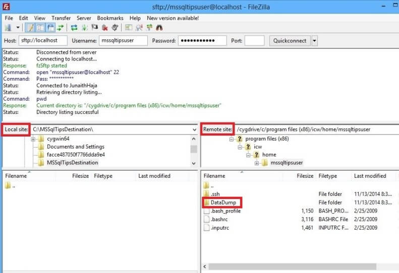 Using SFTP with SQL Server Integration Services