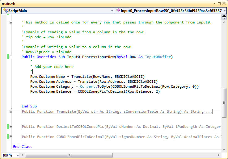 Script Code Screen Capture.
