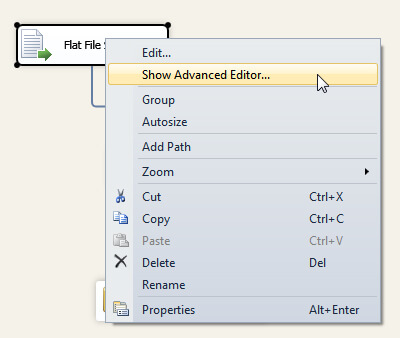 Dropdown Menu to View the Advanced Editor.
